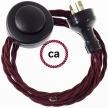 Wiring Pedestal Burgundy Rayon textile cable TM19 - 3 mt