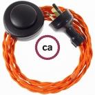 Wiring Pedestal Orange Rayon textile cable TM15 - 3 mt