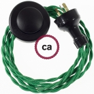 Wiring Pedestal Green Rayon textile cable TM06 - 3 mt