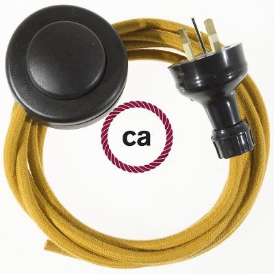 Wiring Pedestal Golden Honey Cotton textile cable RC31 - 3 mt