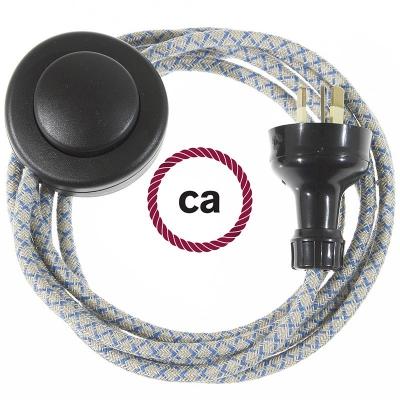 Wiring Pedestal Lozenge Steward Blue textile cable RD65 - 3 mt