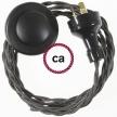 Wiring Pedestal Dark Gray Rayon textile cable TM26 - 3 mt