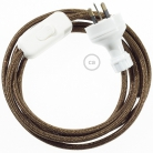 Wiring Glittering Brown textile cable RL13 - 1.80 mt
