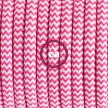 Single Pendant, suspended lamp with ZigZag Fuchsia textile cable RZ08