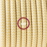 Single Pendant, suspended lamp with ZigZag Yellow textile cable RZ10