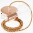 Single Pendant, suspended lamp with Pixel Orange textile cable RX01
