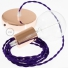 Single Pendant, suspended lamp with Violet Rayon textile cable TM14