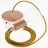 Single Pendant, suspended lamp with Golden Honey Cotton textile cable RC31