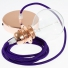Pendant for lampshade, suspended lamp with Violet Rayon textile cable RM14