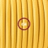 Pendant for lampshade, suspended lamp with Yellow Rayon textile cable RM10