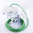 Pendant for lampshade, suspended lamp with Green Rayon textile cable RM06