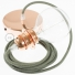 Pendant for lampshade, suspended lamp with Grey Green Cotton textile cable RC63
