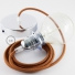 Pendant for lampshade, suspended lamp with Deer Cotton textile cable RC23