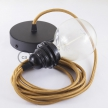Pendant for lampshade, suspended lamp with Whiskey Rayon textile cable RM22
