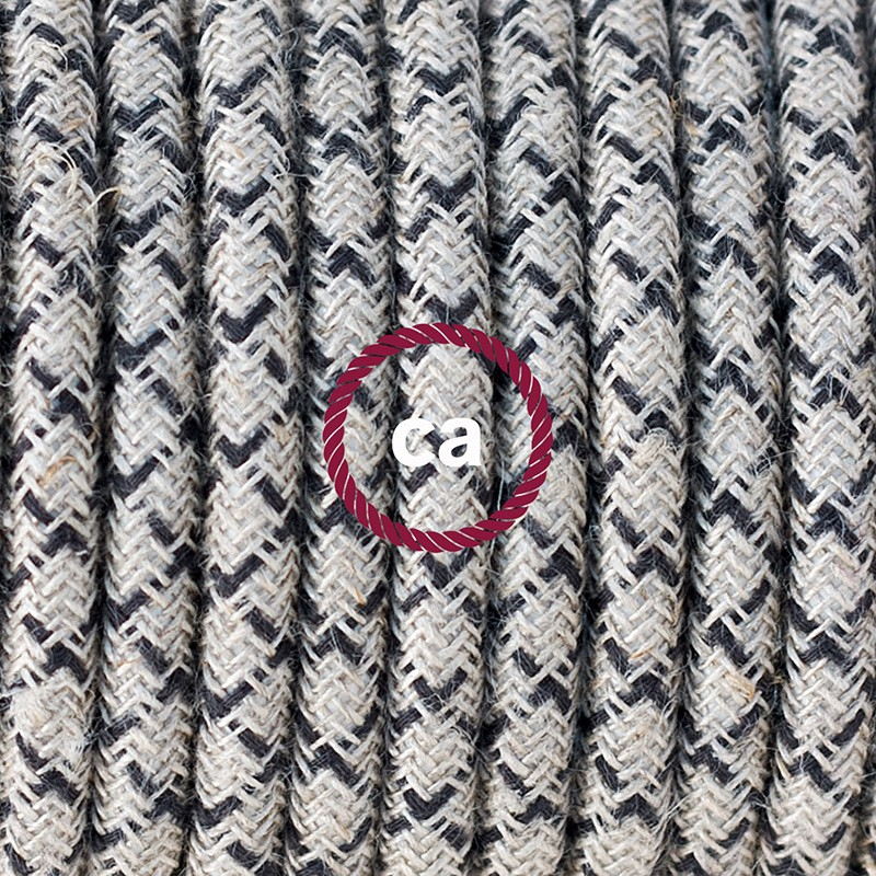 Pendant for lampshade, suspended lamp with Lozenge Anthracite textile cable RD64