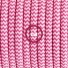 Pendant for lampshade, suspended lamp with ZigZag Fuchsia textile cable RZ08