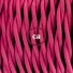 Pendant for lampshade, suspended lamp with Fuchsia Rayon textile cable TM08
