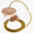 Pendant for lampshade, suspended lamp with Golden Honey Cotton textile cable RC31