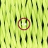 Pendant for lampshade, suspended lamp with Yellow Fluo textile cable TF10
