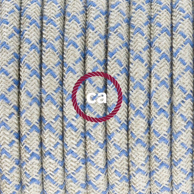 Pendant for lampshade, suspended lamp with Lozenge Steward Blue textile cable RD65