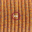 Pendant for lampshade, suspended lamp with Indian Summer Cotton textile cable RX07