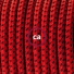 Pendant for lampshade, suspended lamp with Red Devil 3D textile cable RT94