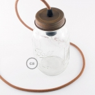 DIY Mason Jar Pendant Kit, Rust