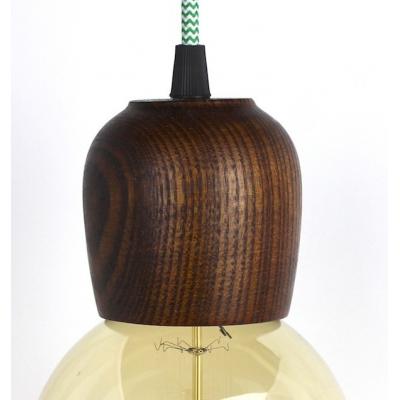Wooden Lampholder Dark Maple