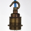 Lampholder Large Brass with Hook