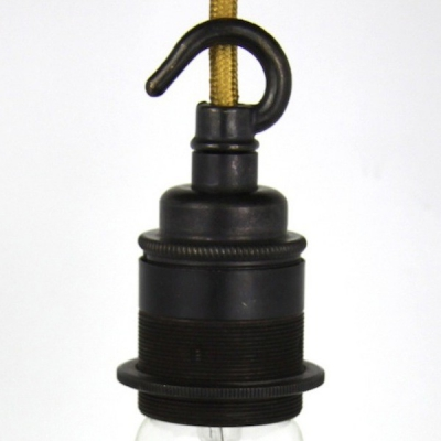 Lampholder Large Bronze with Hook Edison Screw E27