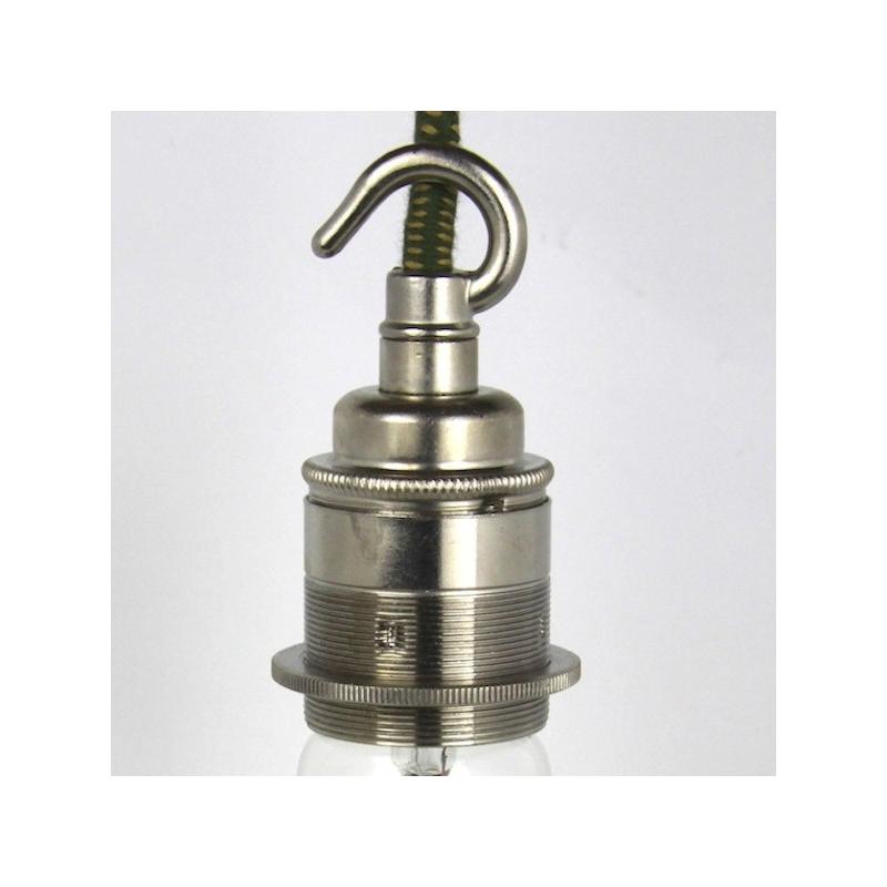 Lampholder Large Nickel with Hook