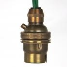Lampholder Small Brass bayonet B22