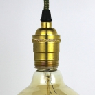 Lampholder Large Polished Brass Edison Screw E27