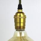Lampholder Large Polished Brass Edison Screw E27