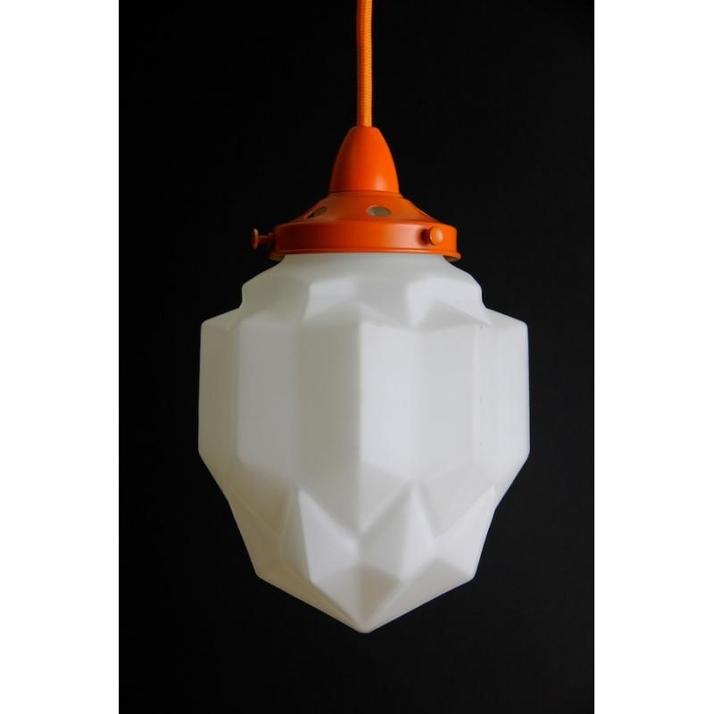 Art Deco Pendant: Orange