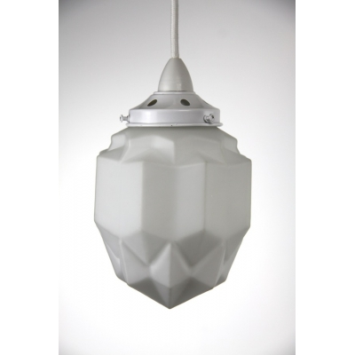 Art Deco Pendant: White