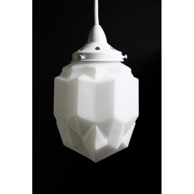 Art Deco Pendant: White