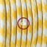 TO208 Yellow Houndstooth Round Electric Cable covered by Rayon fabric