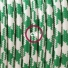 TO202 Green Houndstooth Round Electric Cable covered by Rayon fabric