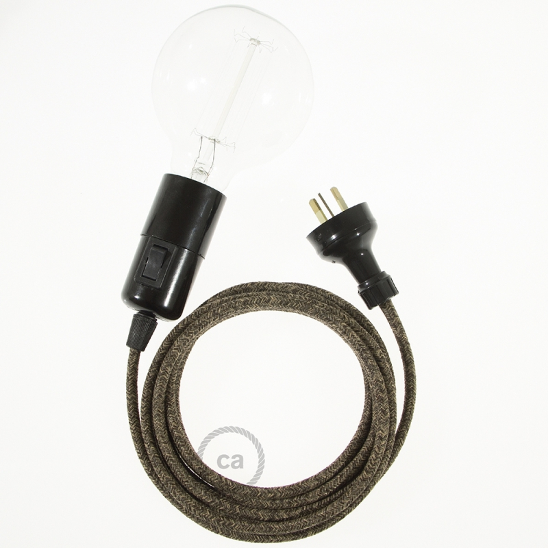Create your RN04 Brown Natural Linen Snake and bring the light wherever you want.