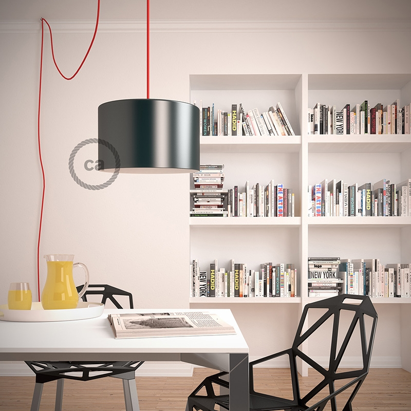 Create your RD62 Lozenge Green Thyme Snake for lampshade and bring the light wherever you want.