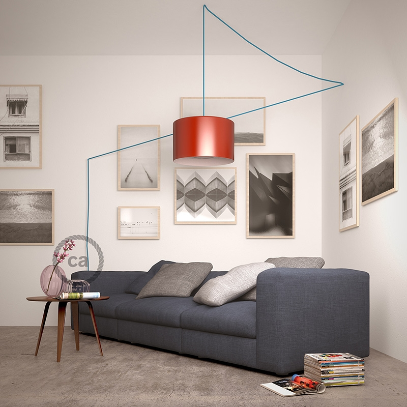 Create your RD64 Lozenge Anthracite Snake for lampshade and bring the light wherever you want.