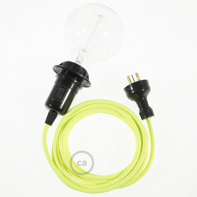 Create your RF10 Yellow Fluo Snake for lampshade and bring the light wherever you want.