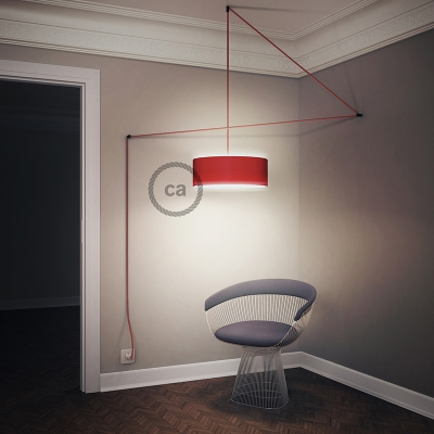 Create your RM09 Red Rayon Snake for lampshade and bring the light wherever you want.
