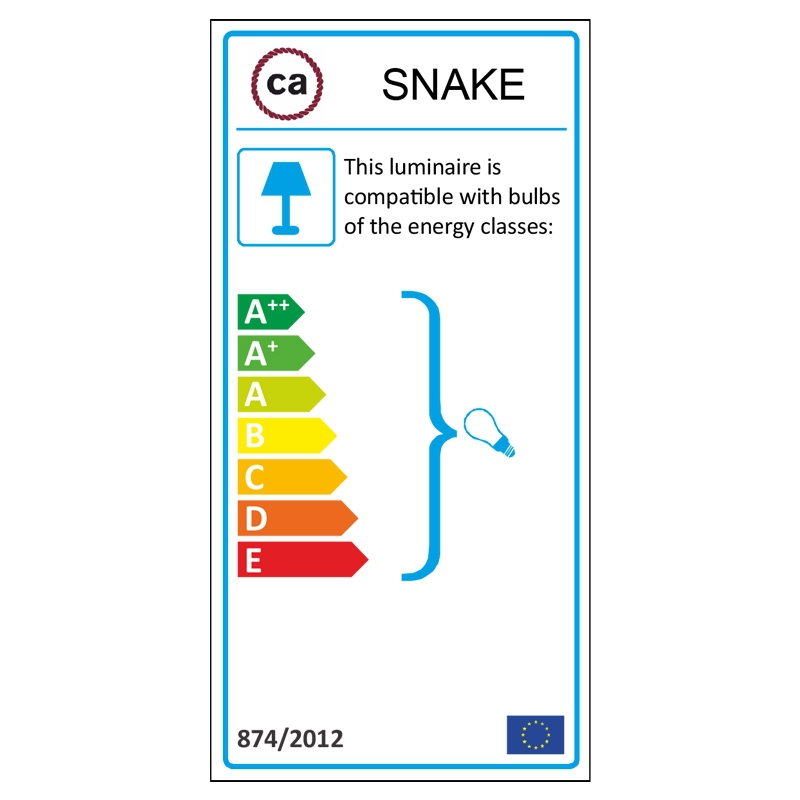Create your RM20 Dark Blue Rayon Snake for lampshade and bring the light wherever you want.