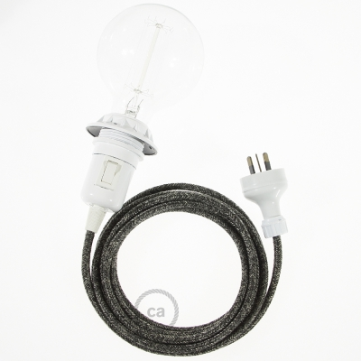 Create your RN03 Anthracite Natural Linen Snake for lampshade and bring the light wherever you want.