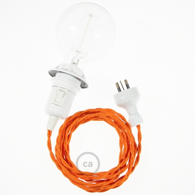 Create your TM15 Orange Rayon Snake for lampshade and bring the light wherever you want.