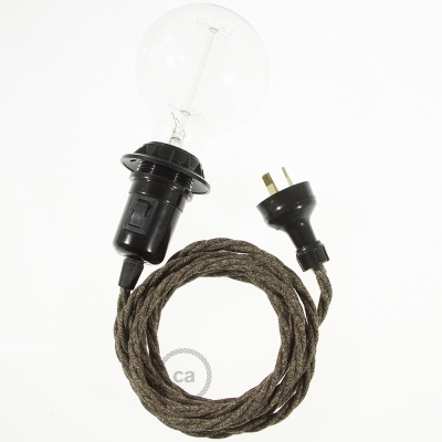 Create your TN04 Brown Natural Linen Snake for lampshade and bring the light wherever you want.