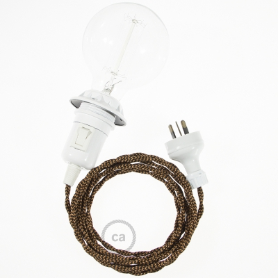 Create your TZ22 Black e Whiskey Rayon Snake for lampshade and bring the light wherever you want.