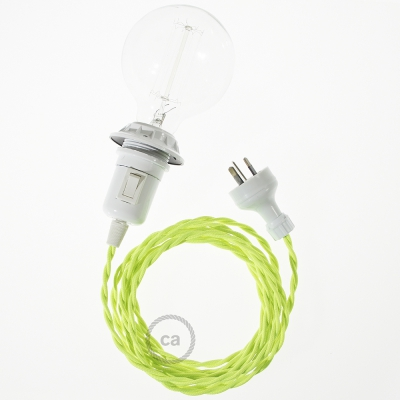 Create your TF10 Yellow Fluo Snake for lampshade and bring the light wherever you want.